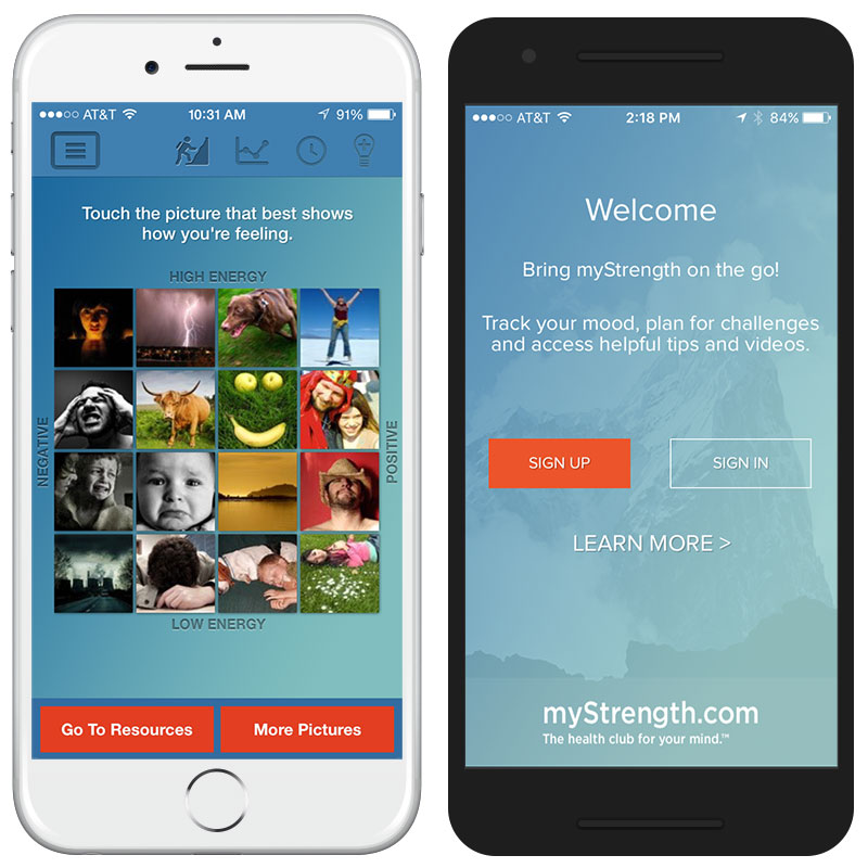 myStrength mobile app